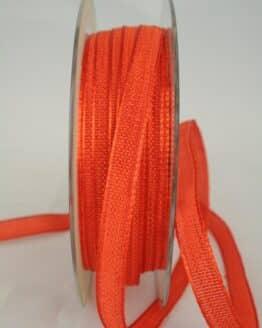 Schmales Dekoband mit Struktur, orange, 10 mm breit - sonderangebot, dekoband