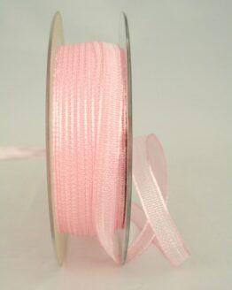 Schmales Dekoband mit Struktur, rosa, 10 mm breit - sonderangebot, dekoband