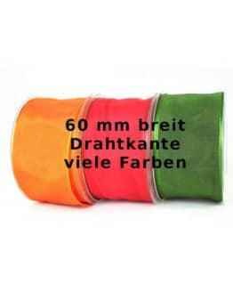 Dekoband mit Drahtkante, 60 mm breit - dauersortiment, dekoband-mit-drahtkante