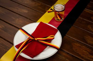 Tisch- und Partydeko für echte Fussballfans - nationalband, hotel, gastronomie