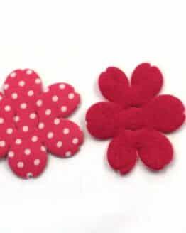 Dekoblüte zum Aufziehen, pink, 52 mm, 20 Stück - accessoires
