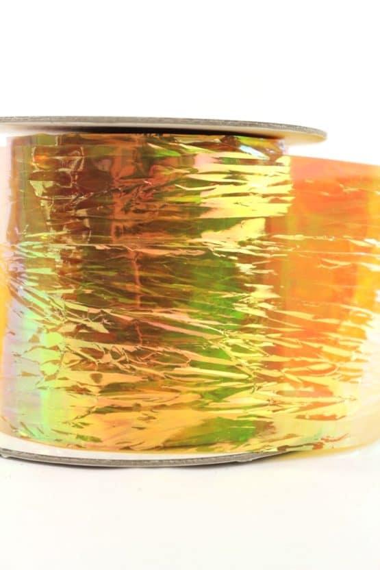 Dekofolie goldgelb irisierend, 75 mm - geschenkband, geschenkband-einfarbig, dekoband