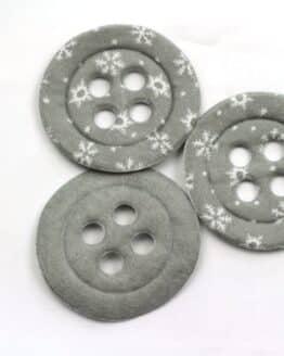 Dekoknöpfe Maxi, grau, 52 mm, 20 Stück - geschenkanhaenger, accessoires