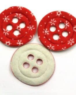 Dekoknöpfe Maxi, rot, 52 mm, 20 Stück - geschenkanhaenger, accessoires