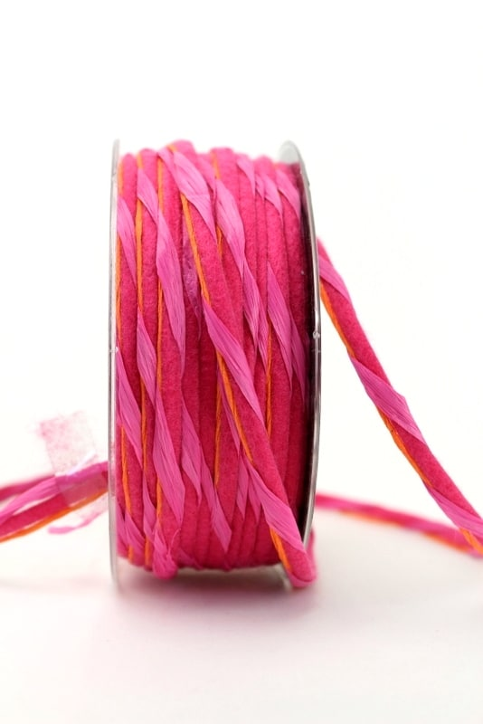 Dekokordel pink, 5 mm - kordeln, andere-baender