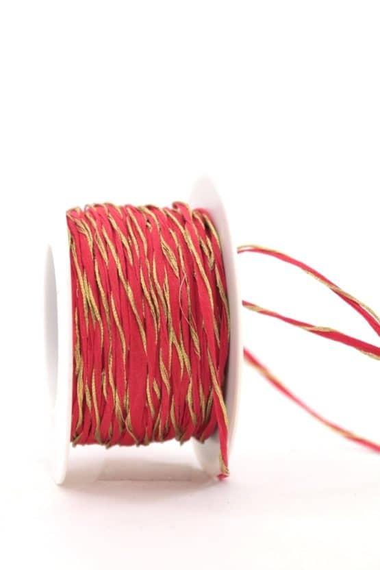 Dekokordel rot-gold, 3 mm - kordeln, andere-baender