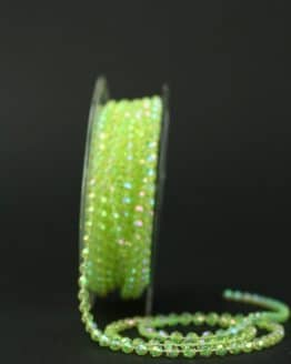 Perlenkette grün-irisé, 4 mm - dekogirlande