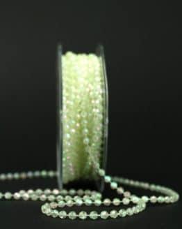 Perlenkette creme-irisé, 4 mm - dekogirlande