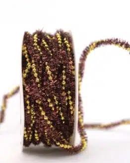 Dekokordel braun-gold, 10 mm - dekogirlande