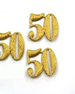 """Dekozahl """"50"""", gold, 40 mm, 20 Stück - accessoires"""