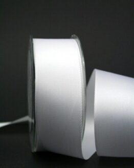 Satinband 'double face' weiß, 40 mm breit - hochzeit, anlasse