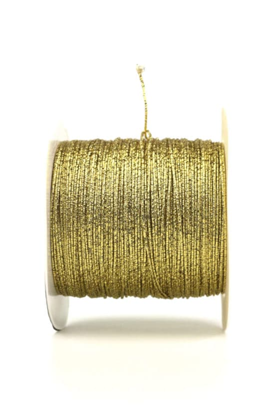 Drahtgimpe, gold, 1 mm stark - kordeln, andere-baender