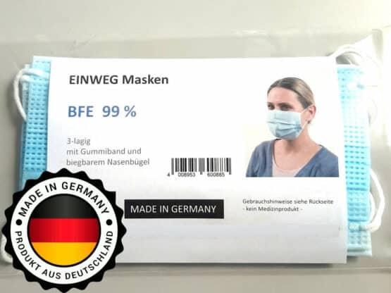 Einwegmasken - Made in Germany - 10 Stück im Beutel - corona-hilfsmittel