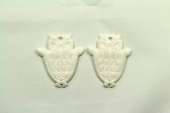 Geschenkanhänger Eule, weiß, 52 mm, 20 Stück - geschenkanhaenger, accessoires