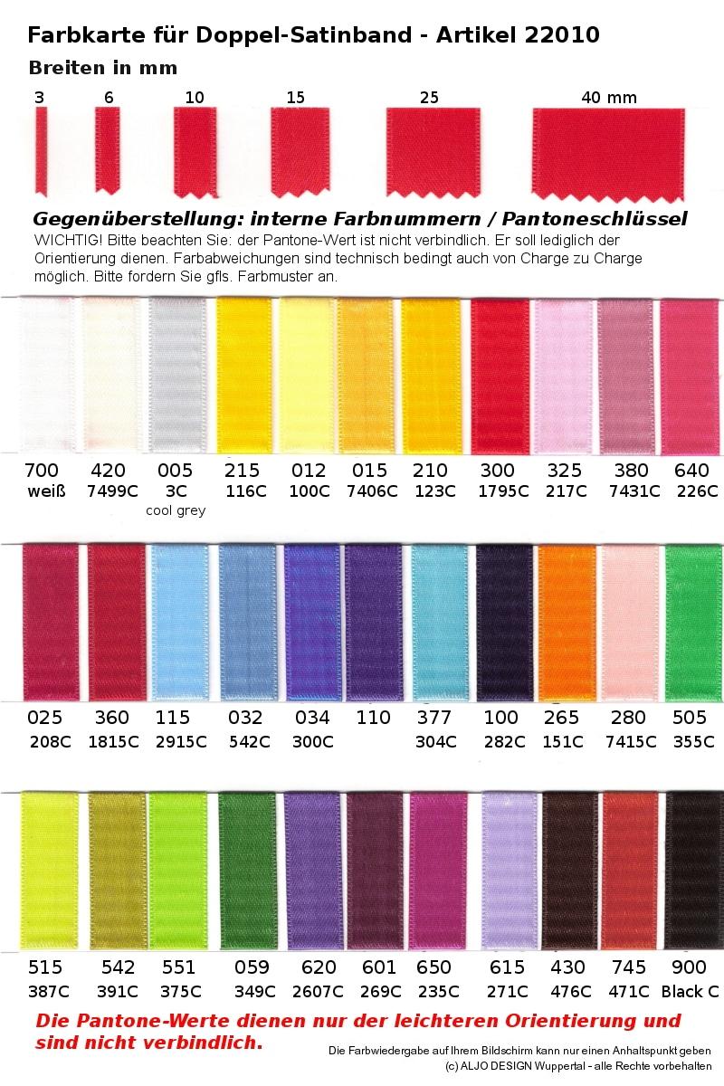 farbmusterkarte satinband mit pantone schluessel geschenkband discount geschenkb nder. Black Bedroom Furniture Sets. Home Design Ideas