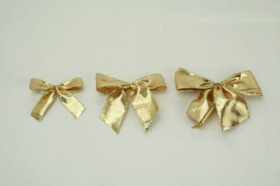 Fertigschleife aus Laméband, gold, zum Aufkleben - fertigschleifen