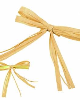 Fertigschleife in Bastoptik, mit Drahtclip - geschenkverpackung, fertigschleifen