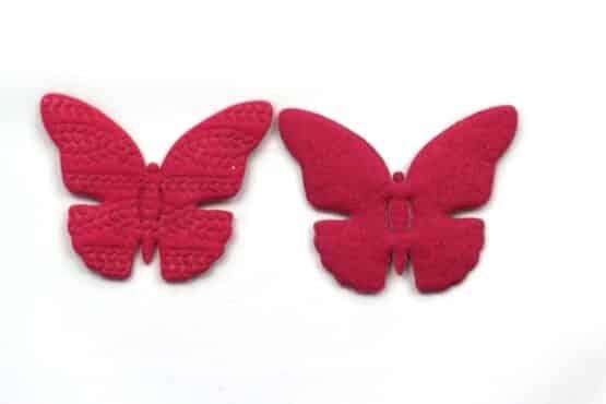 Filz-Schmetterling, pink, 65 mm, 20 Stück - geschenkanhaenger, accessoires