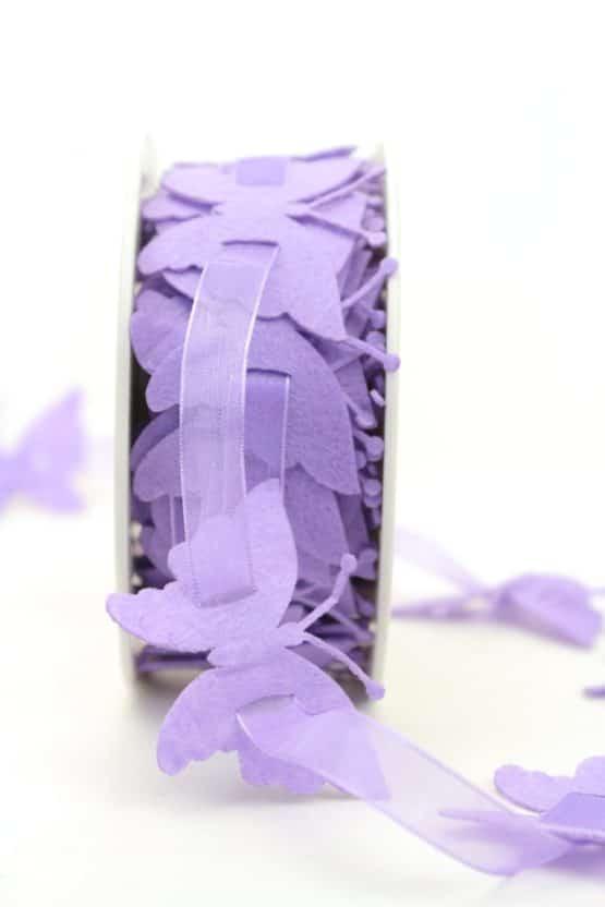 Schmetterlinggirlande aus Filz, lila - dekogirlande