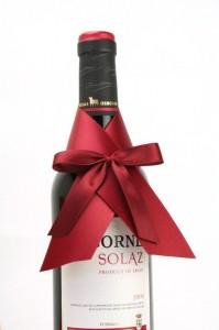 Fertige Flaschenschleifen - die Lösung für Weinpräsente - weinhandel, geschenke-leicht-eingepackt