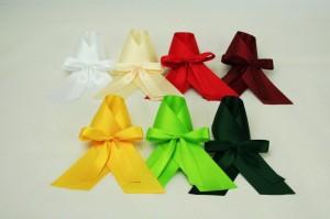 Flaschenschleife aus Satinband, verschiedene Farben - fertigschleifen