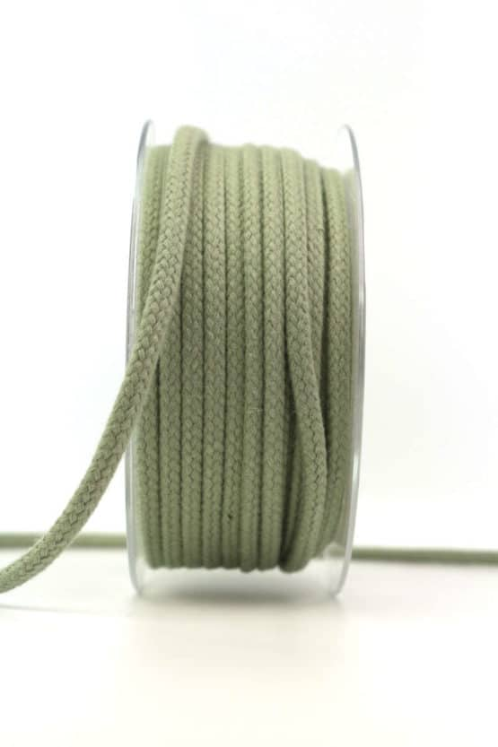 Flechtkordel, oliv, 4 mm stark - kordeln, andere-baender