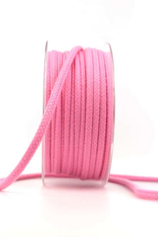 Flechtkordel, pink, 4 mm stark - kordeln, andere-baender