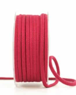 Flechtkordel, rot, 4 mm stark - kordeln, andere-baender