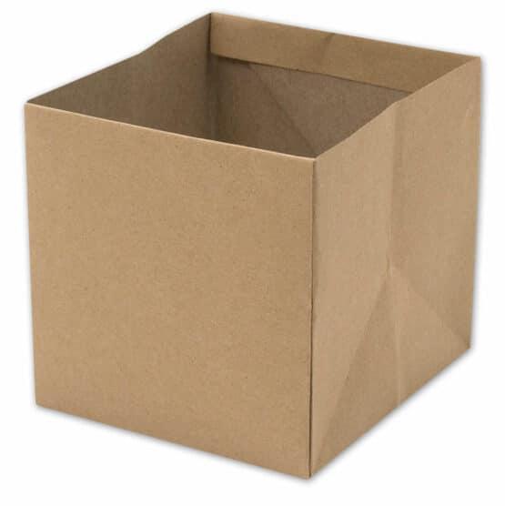 Flowerpot natur, braun, 140x140x135 mm - geschenkverpackung, geschenkboxen