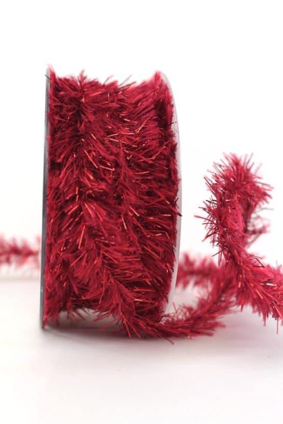 Fransenkordel rot, 20 mm - weihnachtsbaender, geschenkband-weihnachten, dekogirlande