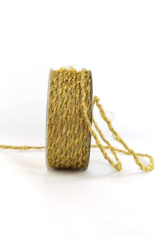 Fransenkordel, gold, 3 mm stark - kordeln