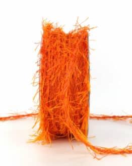 Fransenkordel, orange, 3 mm stark - andere-baender, kordeln