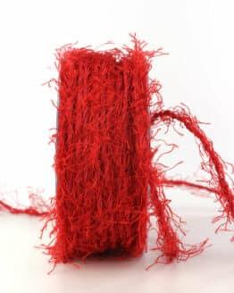 Fransenkordel, rot, 3 mm stark - andere-baender, kordeln