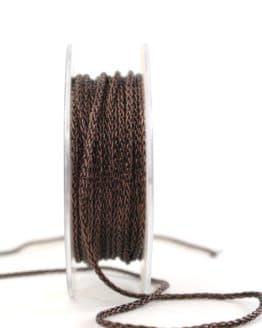 Geflochtene Dekokordel braun, 3 mm - kordeln, andere-baender