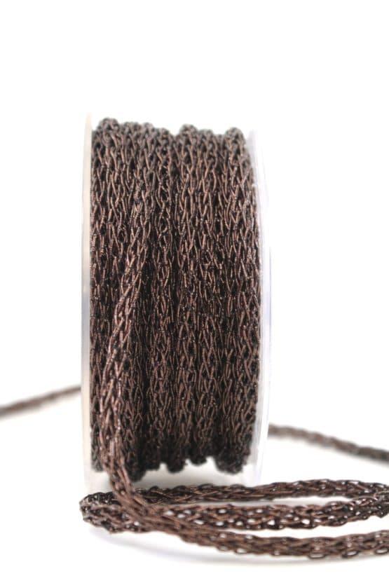 Geflochtene Dekokordel braun, 5 mm - kordeln, andere-baender