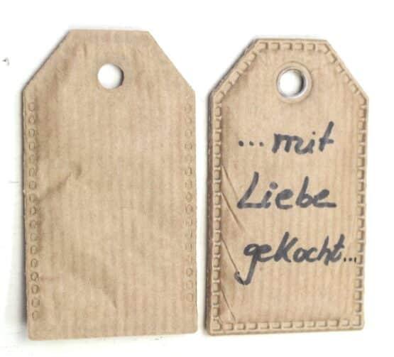 Geschenkanhänger aus Papier, 20 Stück Beutel - geschenkanhaenger, accessoires