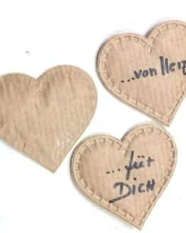 Herz aus Papier, 20 Stück Beutel - geschenkanhaenger, accessoires