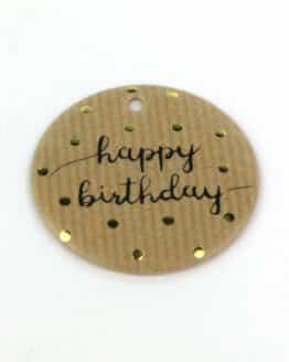Geschenkanhänger Happy Birthday, braun, 16 Stück Beutel - geschenkanhaenger, accessoires