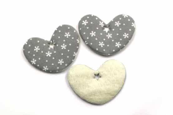Geschenkanhänger Herz grau, 52 mm, 20 Stück - valentinstag, geschenkanhaenger, accessoires