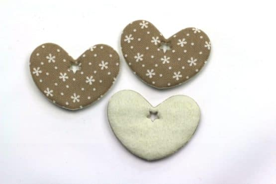 Geschenkanhänger Herz taupe, 52 mm, 20 Stück - valentinstag, geschenkanhaenger, accessoires