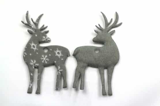 Geschenkanhänger Hirsch grau, 80 mm, 20 Stück - geschenkanhaenger, accessoires