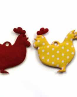 Geschenkanhänger Huhn, gelb, 52 mm, 20 Stück - geschenkanhaenger, accessoires