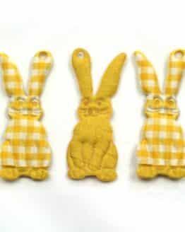 Geschenkanhänger Osterhase, gelb, 60 mm, 20 Stück - geschenkanhaenger, accessoires