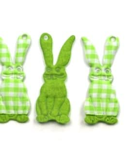 Geschenkanhänger Osterhase, grün, 60 mm, 20 Stück - geschenkanhaenger, accessoires
