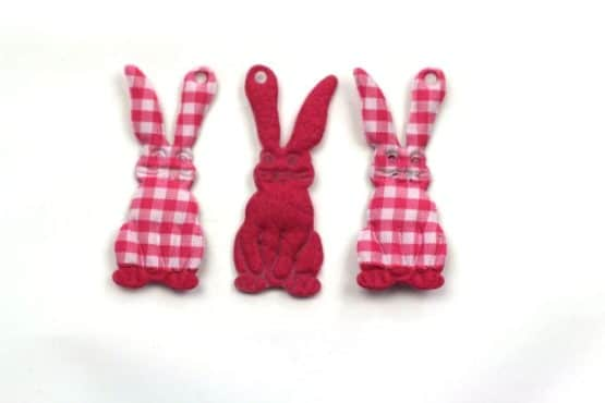 Geschenkanhänger Osterhase, pink, 60 mm, 20 Stück - geschenkanhaenger, accessoires