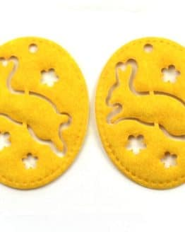 Geschenkanhänger Ostern, gelb, 70 mm, 20 Stück - geschenkanhaenger, accessoires
