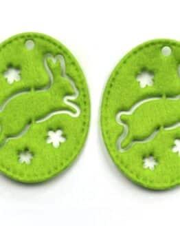 Geschenkanhänger Ostern, grün, 70 mm, 20 Stück - geschenkanhaenger, accessoires