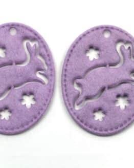 Geschenkanhänger Ostern, lila, 70 mm, 20 Stück - geschenkanhaenger, accessoires