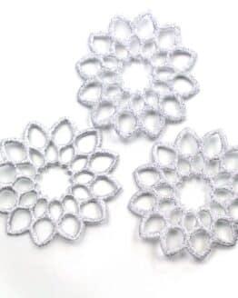 Geschenkanhänger Rosette, silber, 52 mm, 20 Stück - geschenkanhaenger, accessoires