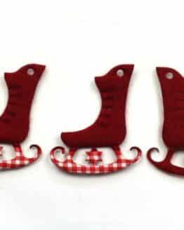 Geschenkanhänger Schlittschuh, rot, 45 mm, 20 Stück - geschenkanhaenger, accessoires